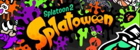 Jeu Splatoon 2 sur Nintendo Switch : artwork du Splatfest d'octobre 2018 Splatoween