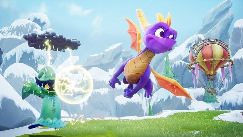 Image du jeu Spyro Reignited Trilogy sur Nintendo Switch : décollage du dragon