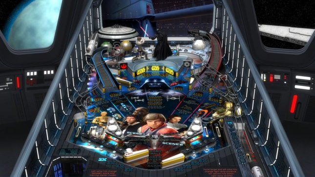 Jeu Star Wars Pinball sur Nintendo Switch : l'une des tables ancestrales
