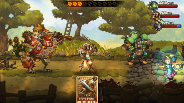Jeu SteamWorld Quest : Hand of Gilgamech sur Nintendo Switch : cartes finale contre un mini-boss