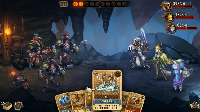 Jeu SteamWorld Quest : Hand of Gilgamech sur Nintendo Switch : affrontez l'armée du Néant