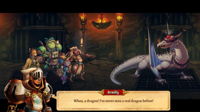 Jeu SteamWorld Quest : Hand of Gilgamech sur Nintendo Switch : vous trouverez des dragons