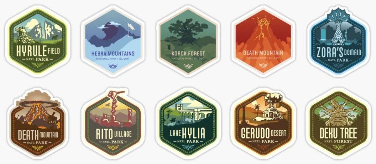 [Bon plan] Des stickers Zelda Breth of the Wild chez Redbubble