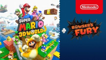 Jeu Super Mario 3D World + Bowser's Fury sur Nintendo Switch : artwork d'annonce du jeu