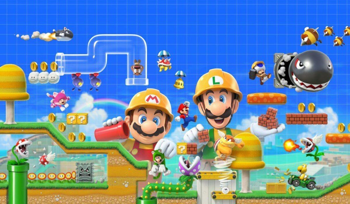 Jeu Super Mario Maker 2 sur Nintendo Switch : artwork du jeu