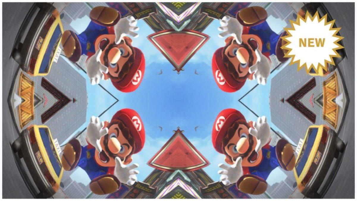 Jeu Super Mario Odyssey sur Nintendo Switch : filtre kaléidoscope