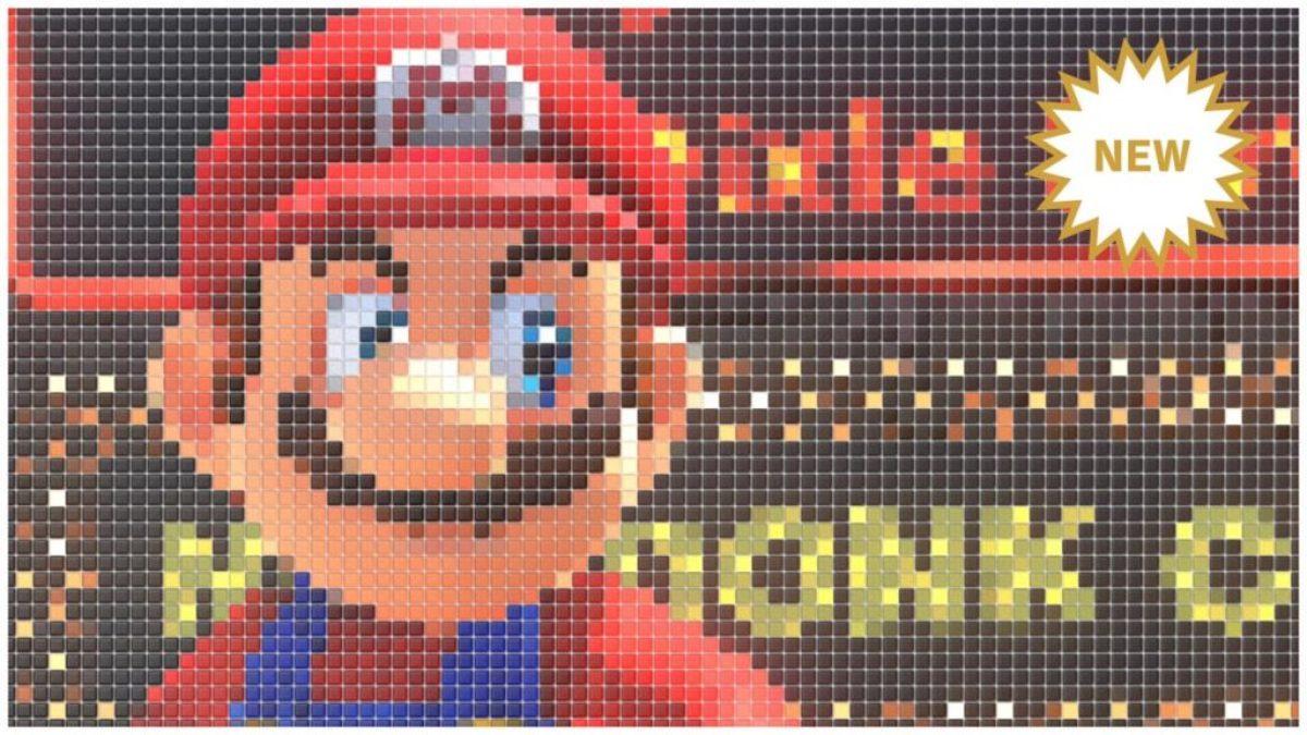 Jeu Super Mario Odyssey sur Nintendo Switch : filtre mosaïque