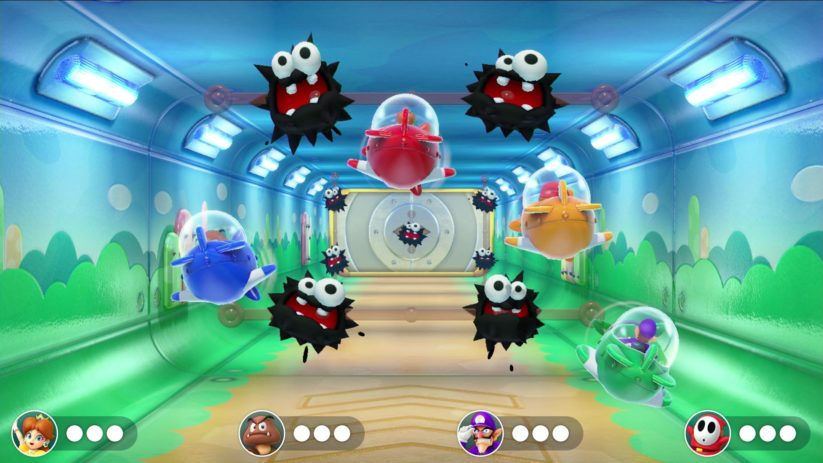 Jeu Super Mario Party sur Nintendo Switch : évitez les fuzzies