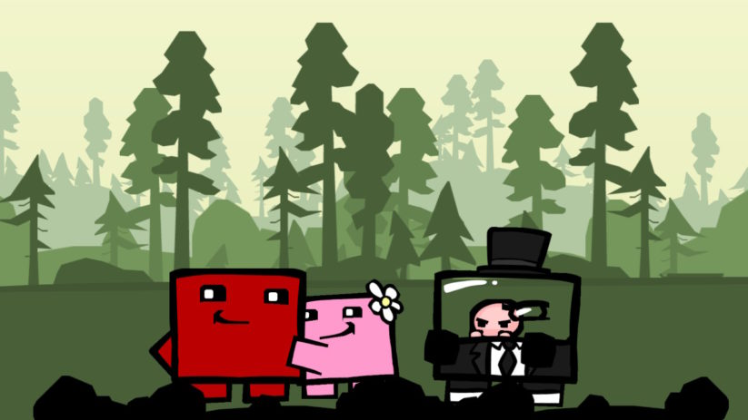 Image du jeu Super Meat Boy sur Nintendo Switch : screenshot de la cinématique d'introduction