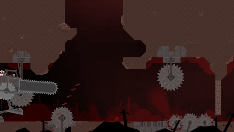 Image du jeu Super Meat Boy sur Nintendo Switch : premier affrontement avec un boss