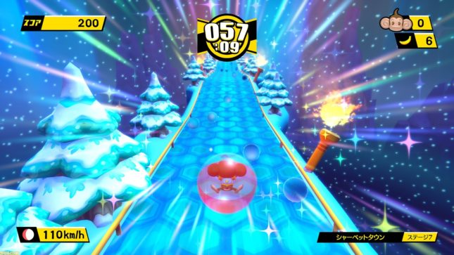 Jeu Super Monkey Ball : Banana Blitz HD sur Nintendo Switch : course enneigée