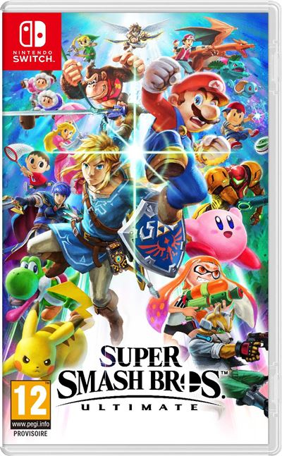 Super Smash Bros Ultimate : jaquette du jeu Nintendo Switch
