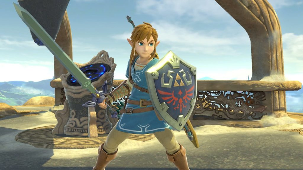 Tenue Breath of the Wild pour le personnage de Link dans Super Smash Bros. Ultimate sur Nintendo Switch