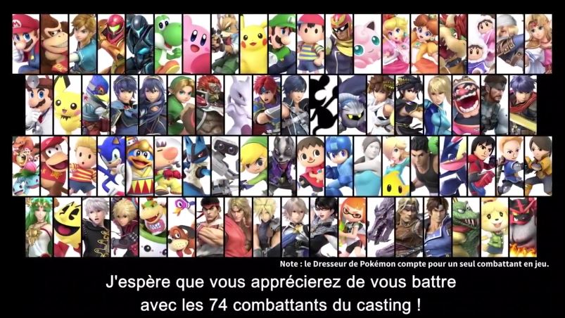 Jeu Super Smash Bros. Ultimate sur Nintendo Switch : les 74 combattants du roster