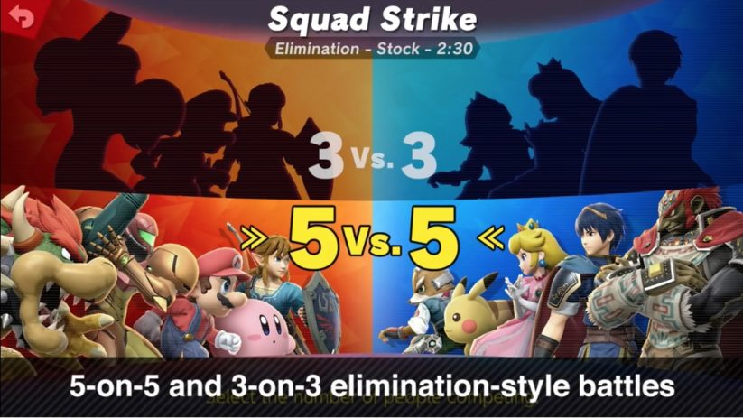 Jeu Super Smash Bros. Ultimate : modes 3vs3 et 5vs5