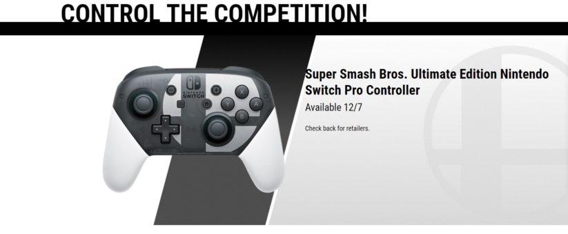 Jeu Super Smash Bros. Ultimate : une manette pro aux couleurs du jeu a été annoncée