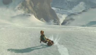 Comment surfer sur un bouclier (mode glissade) dans Zelda Breath of the Wild