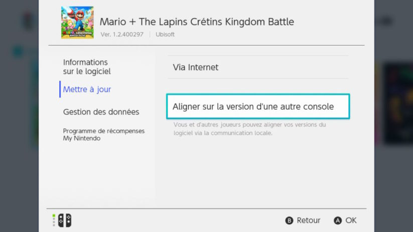 Switch Version 4.0 Aligner la Version
