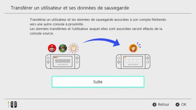 Switch Version 4.0 Transfert Utilisateur