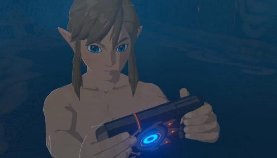 Link examine la tablette sheikah