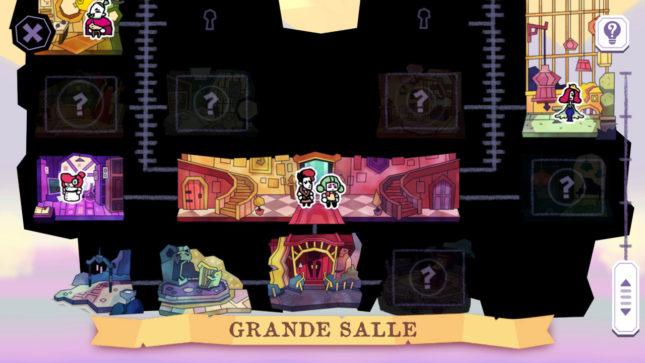 Jeu Tangle Tower sur Nintendo Switch : le manoir est gigantesque