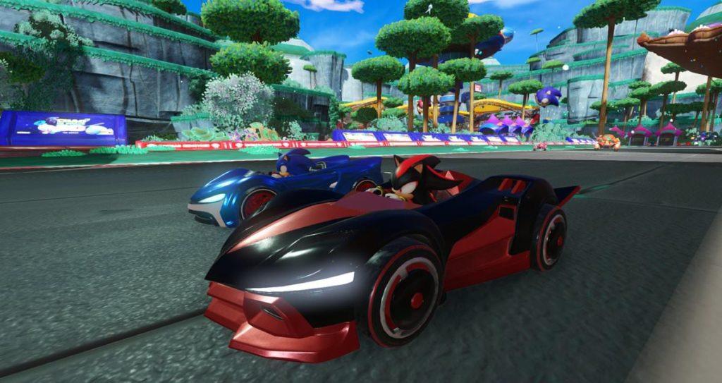 Screenshot du jeu Team Sonic Racing sur Nintendo Switch : Sonic et Shadow