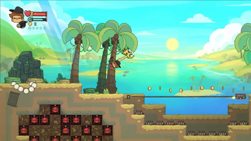 Jeu The Adventure Pals sur Nintendo Switch : monde de la plage