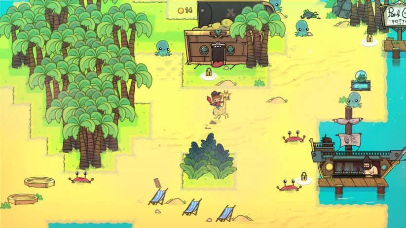 Jeu The Adventure Pals sur Nintendo Switch : aperçu d'une partie de la carte