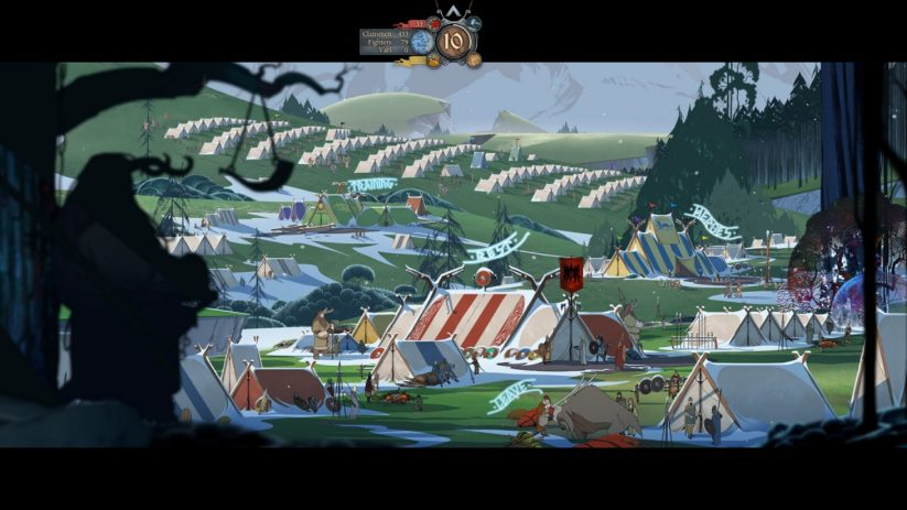 Jeu The Banner Saga sur Nintendo Switch : aperçu du campement