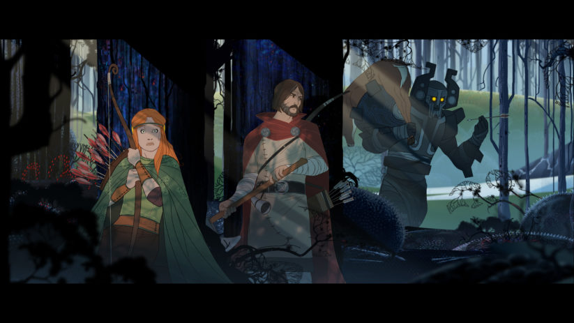 Jeu The Banner Saga sur Nintendo Switch : capture d'écran d'une cut-scene