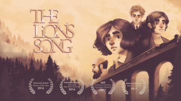 Jeu The Lion's Song sur Nintendo Switch : artwork accolade du jeu