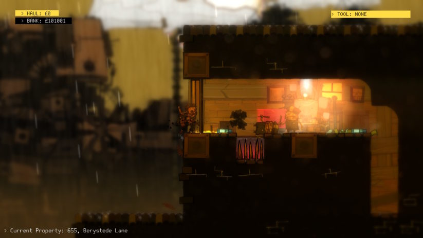 Jeu The Swindle sur Nintendo Switch : un garde à terre