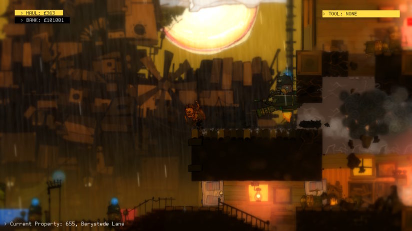 Jeu The Swindle sur Nintendo Switch : poursuivi par la police