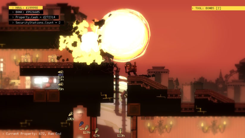 Jeu The Swindle sur Nintendo Switch : une belle explosion