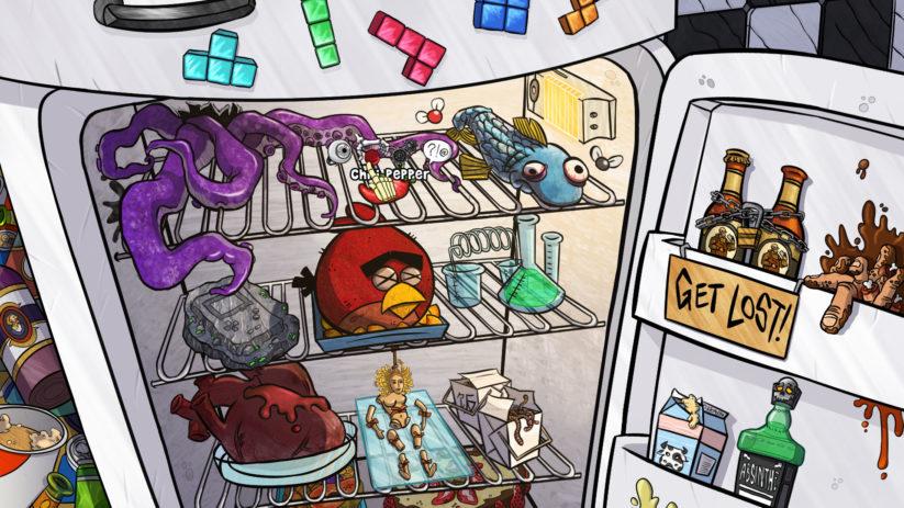 Jeu The Wardrobe sur Nintendo Switch : retrouverez-vous toutes les références dans ce frigo ?