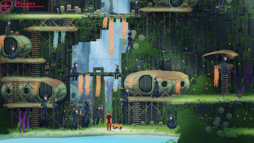 Jeu The Way Remastered sur Nintendo Switch : screenshot dans la jungle
