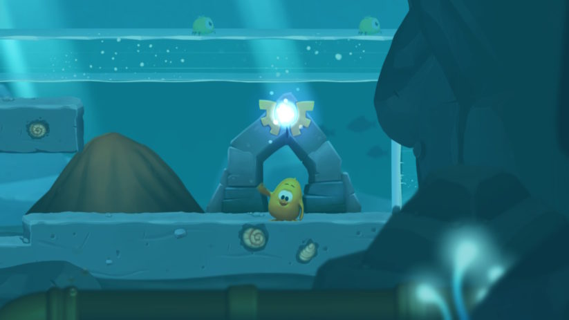 Jeu Toki Tori 2+ sur Nintendo Switch : niveau aquatique