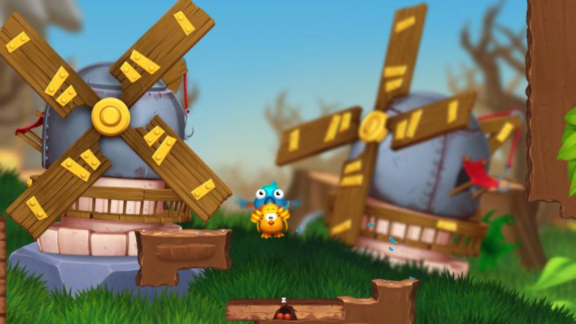 Image du jeu Toki Tori 2 sur Nintendo Switch : moulins