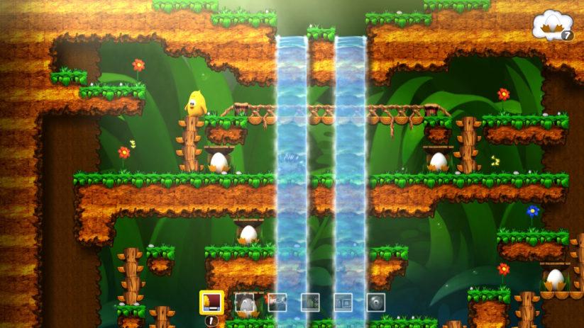 Jeu Toki Tori sur Nintendo Switch : monde de la forêt