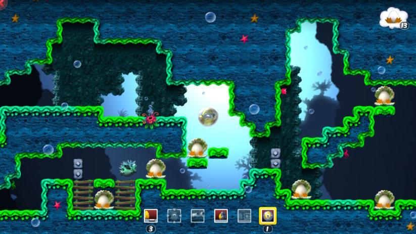 Jeu Toki Tori sur Nintendo Switch : monde aquatique