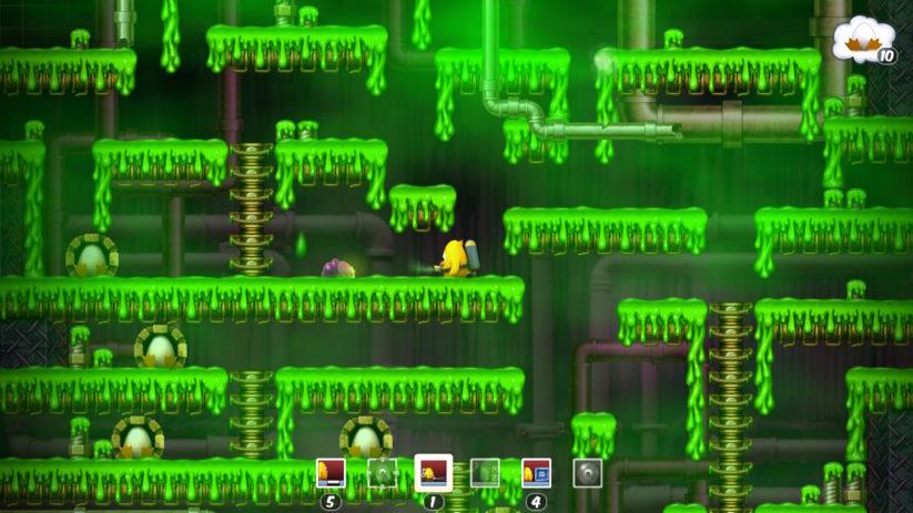 Jeu Toki Tori sur Nintendo Switch : dans les égouts