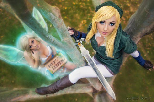 Link et Navi de The Legend of Zelda (Jessica Nigri, Lindsay Elyse et MartinWongArts)