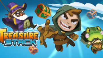 Jeu Treasure Stack sur Nintendo Switch : artwork du jeu