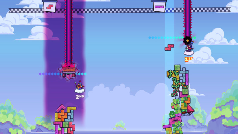 Jeu Tricky Towers sur Nintendo Switch : mode course
