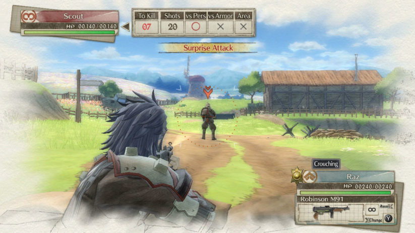 Jeu Valkyria Chronicles 4 sur Nintendo Switch : en action sur le terrain