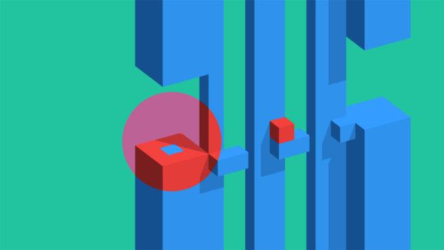 Jeu Vectronom sur Nintendo Switch : droite, droite, haut, haut, droite, droite, bas, bas...