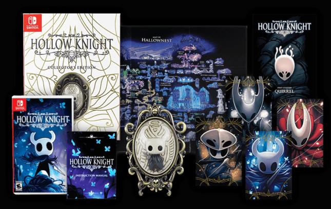 L'édition limitée d'Hollow Knight version physique sur Nintendo Switch