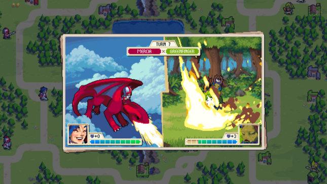 Jeu Wargroove sur Nintendo Switch : attaque du dragon