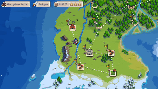 Jeu Wargroove sur Nintendo Switch : menu de progression