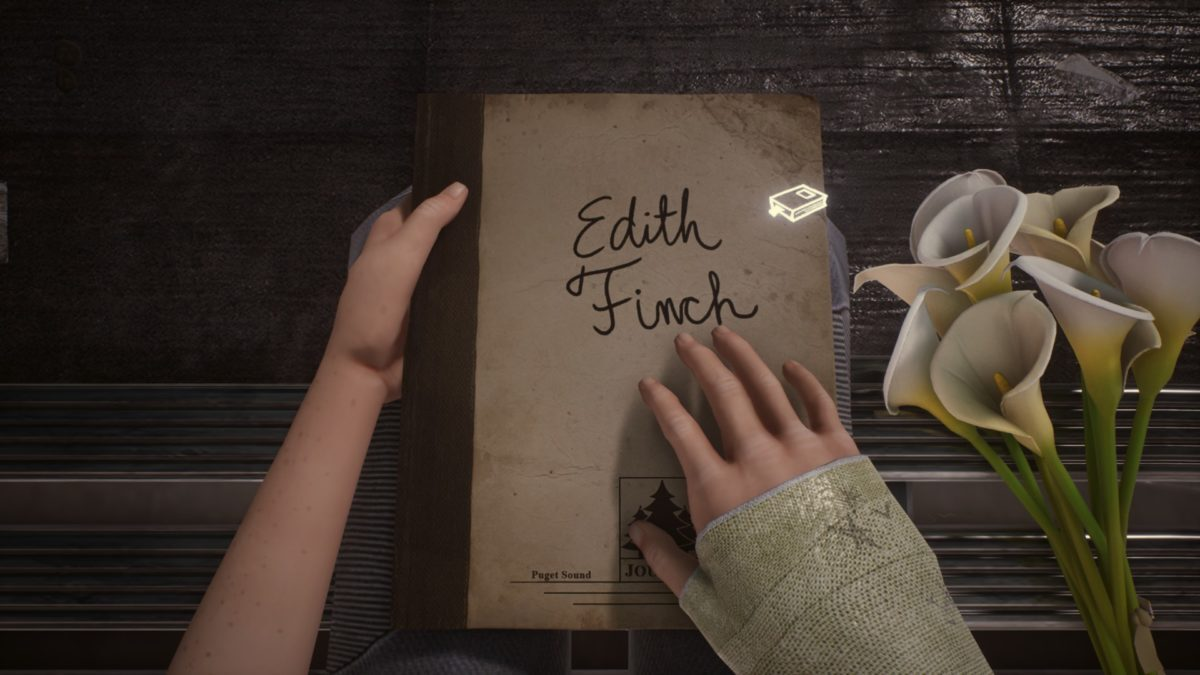 Jeu What Remains of Edith Finch sur Nintendo Switch : ouverture du livre